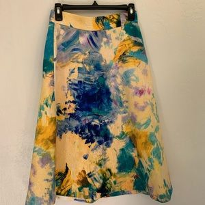 H&M's paint stroke skirt 6